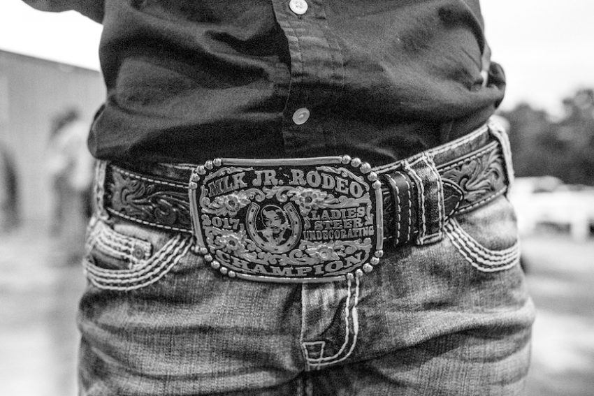 Styles from historic Bill Pickett Invitational Rodeo 2019 in black and white